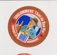 étiquette De Fromage:   Camembert  :  Normandie , L Ami Du  Bon  Vin Env. 13 Par 13 Cm , Méricourt - Kaas