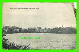 BROOKFIELD, MA - LAKE LASHAWAY, SO SHORE,- TRAVEL IN 1913 - - Etats-Unis