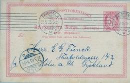 1905 , NORUEGA , ENTERO POSTAL CIRCULADO , KRISTIANIA - COLONIA , LLEGADA - Enteros Postales