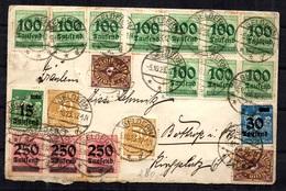 Allemagne/Reich Superbe Lettre De 1923 Affranchissement Multiple Recto-verso. B/TB. A Saisir! - Allemagne