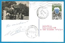 (A920) - Signature / Dédicace / Autographe Original - Marcel ROZIER - Cavalier Saut D'obstacle - Autographes