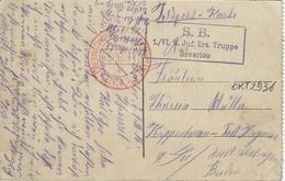 Beverloo   -   Camp De Beverloo.  -  Vue Sur La Poste Et L'Eglise.    -  1916   Naar   Kippenhausen - Post Hagenau - Guerra 1914-18