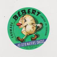 étiquette De Fromage:   Camembert  : Bébert  De  Reignac , I,ndre , Bléré - Fromage