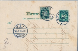 1904 , NORUEGA , ENTERO POSTAL CIRCULADO , STAVANGER - ERFURT , LLEGADA - Enteros Postales