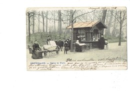 Cpm - Belgique - BRUXELLES - Dans Le Parc - Femme Nurse Landau Publicité Boissons VIGOR 10s La Tasse Bouillon - 1905 - Places, Squares