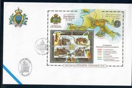 SAN MARINO 2000 - GIUBILEO DEL DUEMILA - FOGLIETTO - FDC - FDC