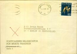 1971 , NORUEGA , SOBRE CIRCULADO , SKILLEBEKK - BERLIN , YV. 573 , BALONMANO , HANDBALL - Noruega