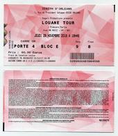 Ticket Concert Louane (Louane Tour) - Carré Or - Zénith Orléans Jeudi 29 Novembre 2018 - Tickets De Concerts
