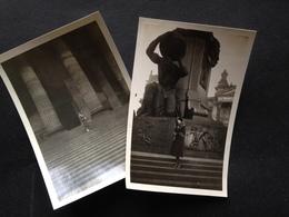 BERLIN - FRAU IN PELZ VOR NATIONAL-GALERIE - BISMARCK-DENKMAL - PHOTOHAUS KAGEE - CHARLOTTENBURG - 1932 - Luoghi