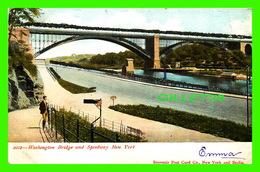 NEW YORK CITY, NY - WASHINGTON BRIDGE & SPEEDWAY - ANIMATED - SPARKLES - WRITTEN IN 1906 - SOUVENIR POST CARD CO - - Ponts & Tunnels