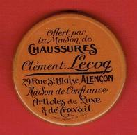 MIROIR PUBLICITAIRE ALENCON ORNE MAISON DE CHAUSSURES CLEMENT LECOCQ 29 RUE SAINT BLAISE - Other