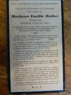 ORCHIMONT +WILLERZIE:SOUVENIR DE DECE DE EMILIE BALLOT EPOUSE GUSTAVE LEDUC 1889-1932 - Images Religieuses