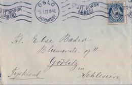 1927 , NORUEGA , SOBRE CIRCULADO , OSLO - GÖRLITZ - Noruega