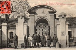 9873. CPA 82 MONTAUBAN. CASERNE DU 20è REGIMENT D'INFANTERIE 1908 - Montauban