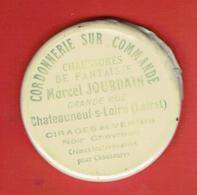 MIROIR PUBLICITAIRE CHATEAUNEUF SUR LOIRE LOIRET CORDONNERIE SUR COMMANDE MARCEL JOURDAIN GRANDE RUE CHAUSSURES - Other