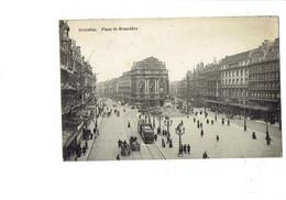 Cpa - Belgique - BRUXELLES - Place De Brouckère - Tramway Animation - Hotel Métropole - Squares