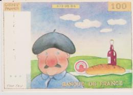CPM -  HUMOUR - GRIVOISERIE -  ILLUSTRATEUR: DON LAY - 100 FRANC - BANQUE DE FRANCE - Humour