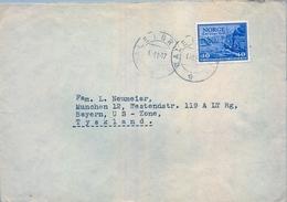 1947 , NORUEGA , SOBRE CIRCULADO , DALE I BRUVIK - TYSKLAND - Noruega