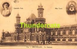 CPA BRUXELLES TIR NATIONAL GABRIELLE PETIT MISS CAVEL MARCO MARCOVICI - Beroemde Personen