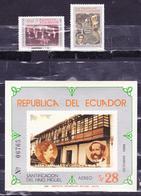 ECUADOR 1984 BROTHER MICHAEL SANCTIFICATION SOUVENIR SHEET + 2 MINT STAMPS SAN PEDRO CHURCH ON VATICAN CITY SC 1063-1065 - Ecuador