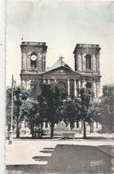 CPSM FORMAT CPA .  BELFORT .  BASILIQUE DE SAINT-CHRISTOPHE . PETITE COLORISATION  AFFR AU VERSO LE 15-7-1960 . 2 SCANES - Belfort - City