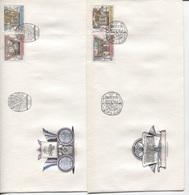 CSSR # 2957-60 FDC. Nationalbibliothek Kloster Strahov Globus Buch Initiale. Ersttagssonderstempel - FDC