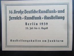 Händler Dauerkarte Deutsche Rundfunk- Und Fernseh Ausstellung Berlin 1939 - Deutschland