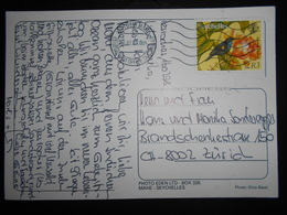 Seychelles , Carte De Victoria 2008 Pour Zurich - Seychelles (1976-...)