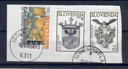 SLOVENIA 1993 - 3 VALORI USATI - Slovenia