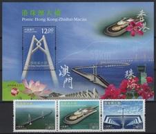 Macau - Macao (2018) - Set + Block -  /  Bridge - Joint Issue With China & Hong Kong - Gezamelijke Uitgaven