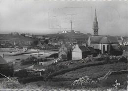 Ile De Batz - Vue Générale De L'ile église Paroissiale, Port Et Phare - Ile-de-Batz