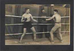 CPA Photo RPPC Boxe Boxeur Boxing Non Circulé Combat Match Leboucher Riley - Boxing
