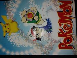 Pokémon, Pikachu Et Sacha (recto) Et Publicité Pour Le Jeu Vidéo Wrestlemania (verso). - Affiches
