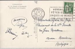 TP N° 280 SUR CP POUR LA BELGIQUE / 1934-35 - 1932-39 Paz