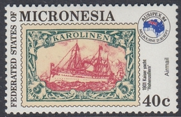Micronesia 1984 -  Stamp On Stamp: German Colony Of Caroline Islands (ship) - Mi 27 ** MNH - Micronésie