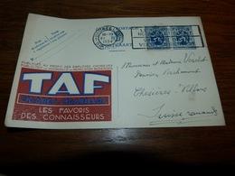 BC8-2-10 LV12  Publibel Sans Numéro TAF Cigares Cigarillos Envoyé 1934 - Publibels
