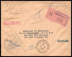 6396 Lettre Cover Bouches Du Rhone Marseille Poste Aux Armées BCM B Recommandé 1951 Santé Militaria - Postmark Collection (Covers)