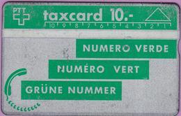 Télécarte Holo Suisse °° Taxcard 10 Verte-Numéro Vert - 9429 Inversé -RV. État Usagé. - Suisse