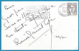 (A925a) - Signature / Dédicace / Autographe Original - Renée Saint Cyr - Actrice - Autographes