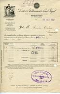 FACTURE-ETABLISSEMENTS LOUIS RIGAL-ROQUEFORT- ANNÉE 1927 - Alimentos