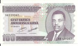 BURUNDI 100 FRANCS 2011 UNC P 44 B - Burundi