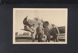 Dt. Reich Photo Kleinformat Flugzeug Mannschaft - Weltkrieg 1939-45