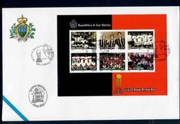 SAN MARINO 1999 - CENTO ANNI MILAN - FDC - FDC