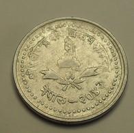 1986 - Népal - 2043 - 25 PAISA, Birendra Bir Bikram, KM 1015.1 - Népal