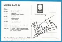 (A932) - Signature / Dédicace / Autographe Original - Michel SARDOU - Autographes