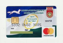 Bank Avangard RUSSIA Fan Card - FC Ufa (ФК Уфа) Mastercard EXPIRED - Tarjetas De Crédito (caducidad Min 10 Años)