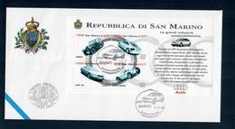 SAN MARINO 1999 -IMPRESE AUTMOBILISTICHE AUDI  - FDC - FDC