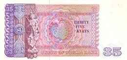 Burma P.63  35 Kyats 1986 Unc - Myanmar