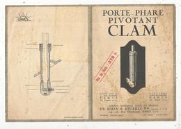 Publicité ,porte Phare Pivotant CLAM ,automobile ,2 Scans , Frais Fr 1.75 E - Publicités