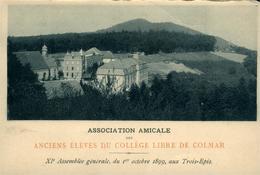 Colmar  Carton Menu De La XIème Assemblée Générale Des Anciens élèves ...01.10.1899 Aux Trois-Epis - Colmar